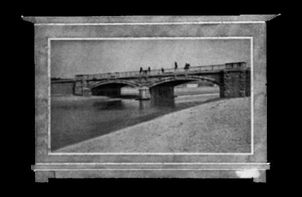 Puente del piles .Gijón Veraniego 1915