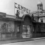 GIJÓN. CINE LOS CAMPOS . Película en relieve, El Hombre en las tinieblas, año 1953.