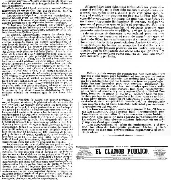 El Clamor Público 28 de Enero de 1854
