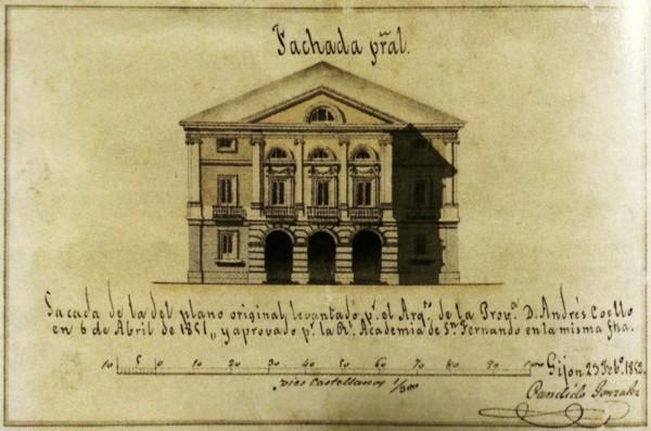 Proyecto Teatro Jovellanos. 23 febrero de 1852.