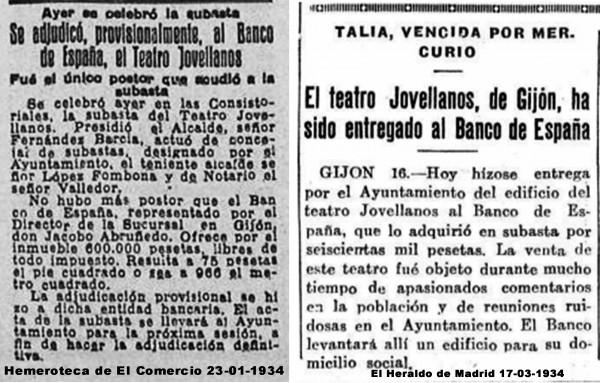 subasta adjudicada al banco de españa 23-01-1934