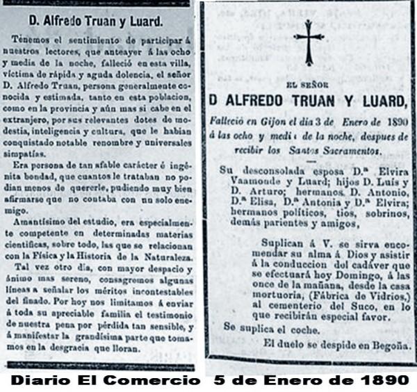 Fallecimiento Alfredo Truan Luard