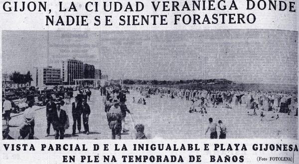 Gijón la ciudad veraniega donde nadie se siente forastero.Hoja del lunes de madrid, 18 de Julio de 1960