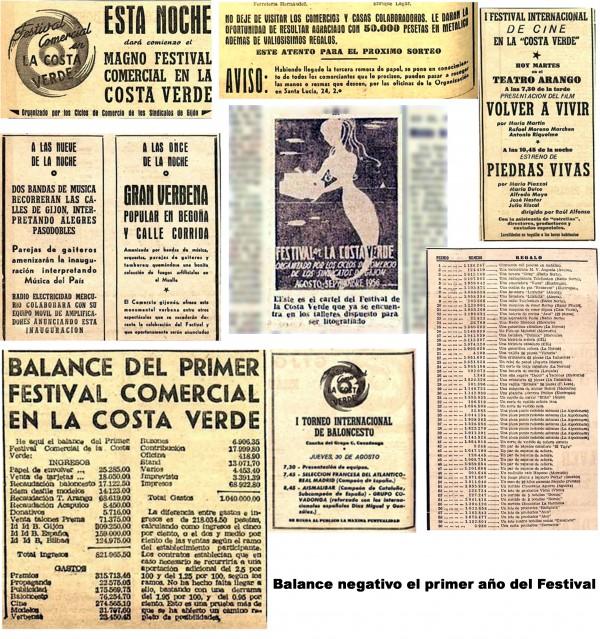 Recortes primer festival 1956