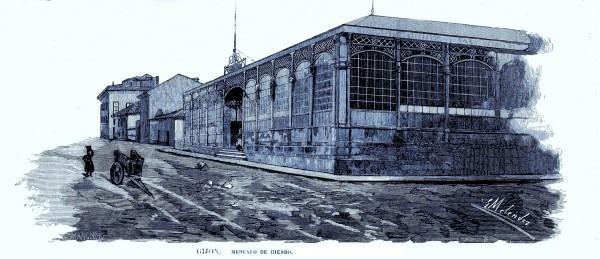 mercado de hierro Ilustracion gallega y asturiana. Publicada en 30 Abril de 1879