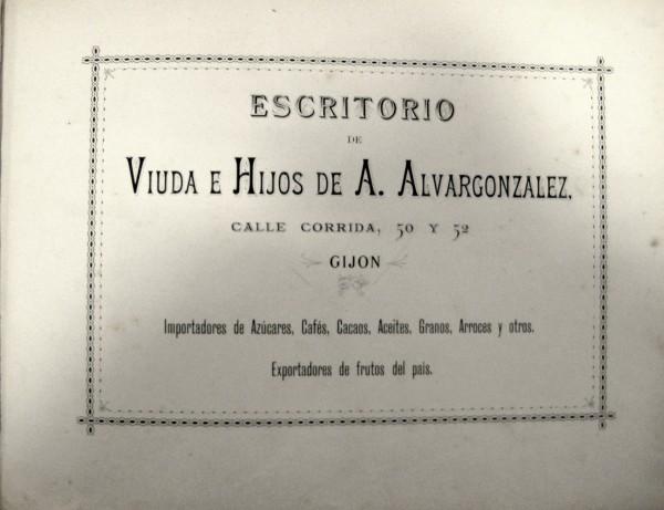 Escritorio viuda e hijos A. Alvargonzález