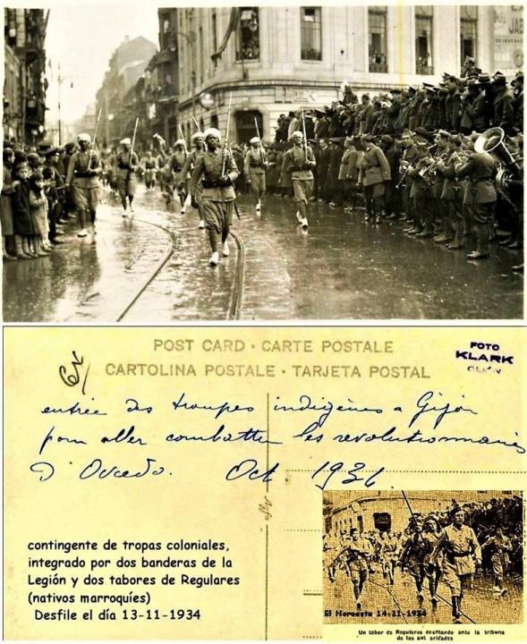 desfile tropas africa 13-11-1934
