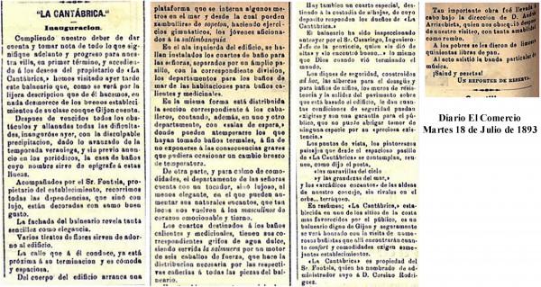 inauguración 18 Julio 1893